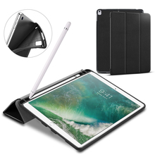 Tablet Case עבור Ipad אוויר 3 10.5 סיליקון כיסוי עבור Ipad 10.5 עם עיפרון מחזיק עור מפוצל מגנטי Tpu מעטפת עבור ipad 2019