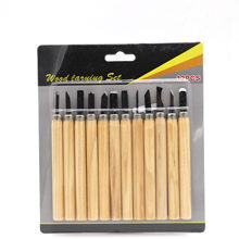 12PCs Professional Wood Carving Chisel Manual Tool Set for Basic Detailed Woodworking Chisel GYH(China)