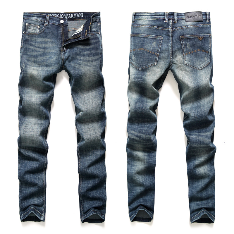 Autumn And Winter Thick Section MEN'S Jeans International Famous Brand Quality Men'S Wear Cotton Stretch Jeans Origional
