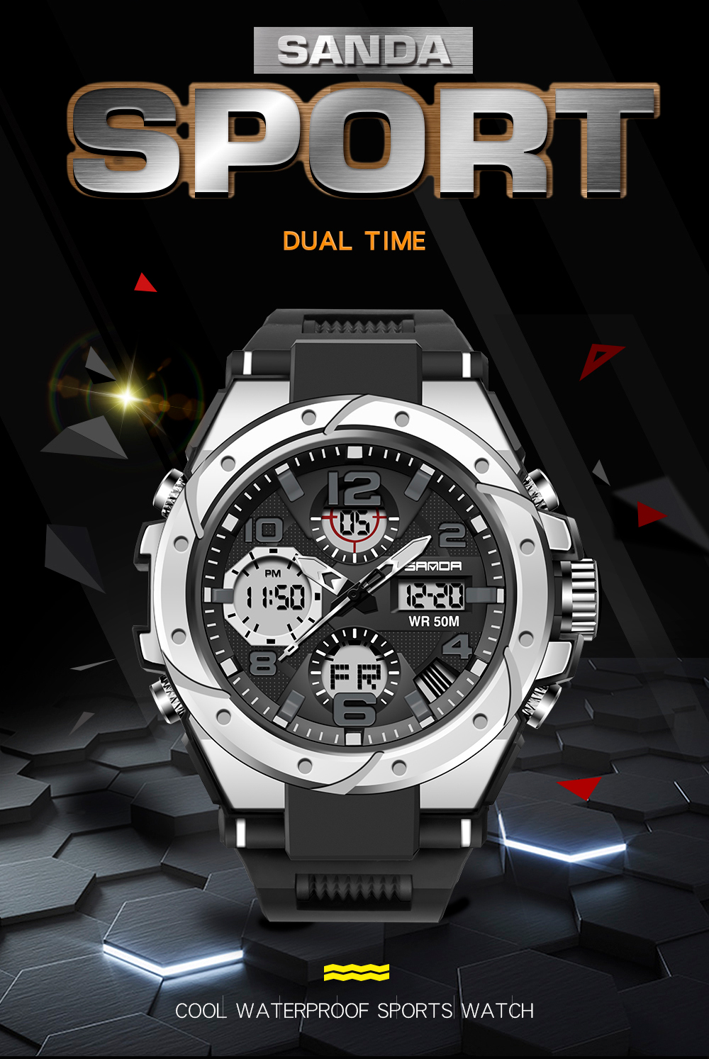 Hd3dec30c50834a1697a303f0482345dfw SANAD Top Brand Luxury Men's Military Sports Watches 5ATM Waterproof