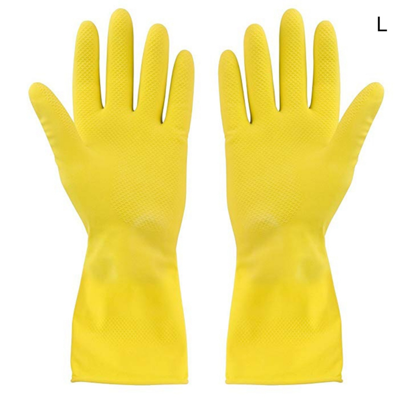 Waterproof Housework Gloves Dishes Washing Clothes Rubber Latex Yellow Gloves Household Glovees Utility Supplies