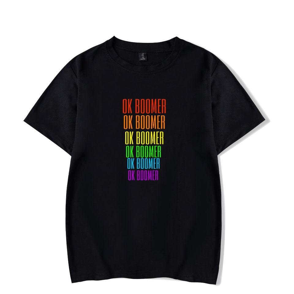 OK Boomer 1946-1964 T-shirt Women/men Clothing High Quality Kpop Boomer Funny Tshirt Harajuku Tshirt Printing K-pop Tops