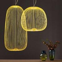 Modern Foscarini Spokes 1/2 Chandelier Iron Bird Cage Chandelier Lighting Hanging Lamp Suspension Dining Room Kitchen Fixtures