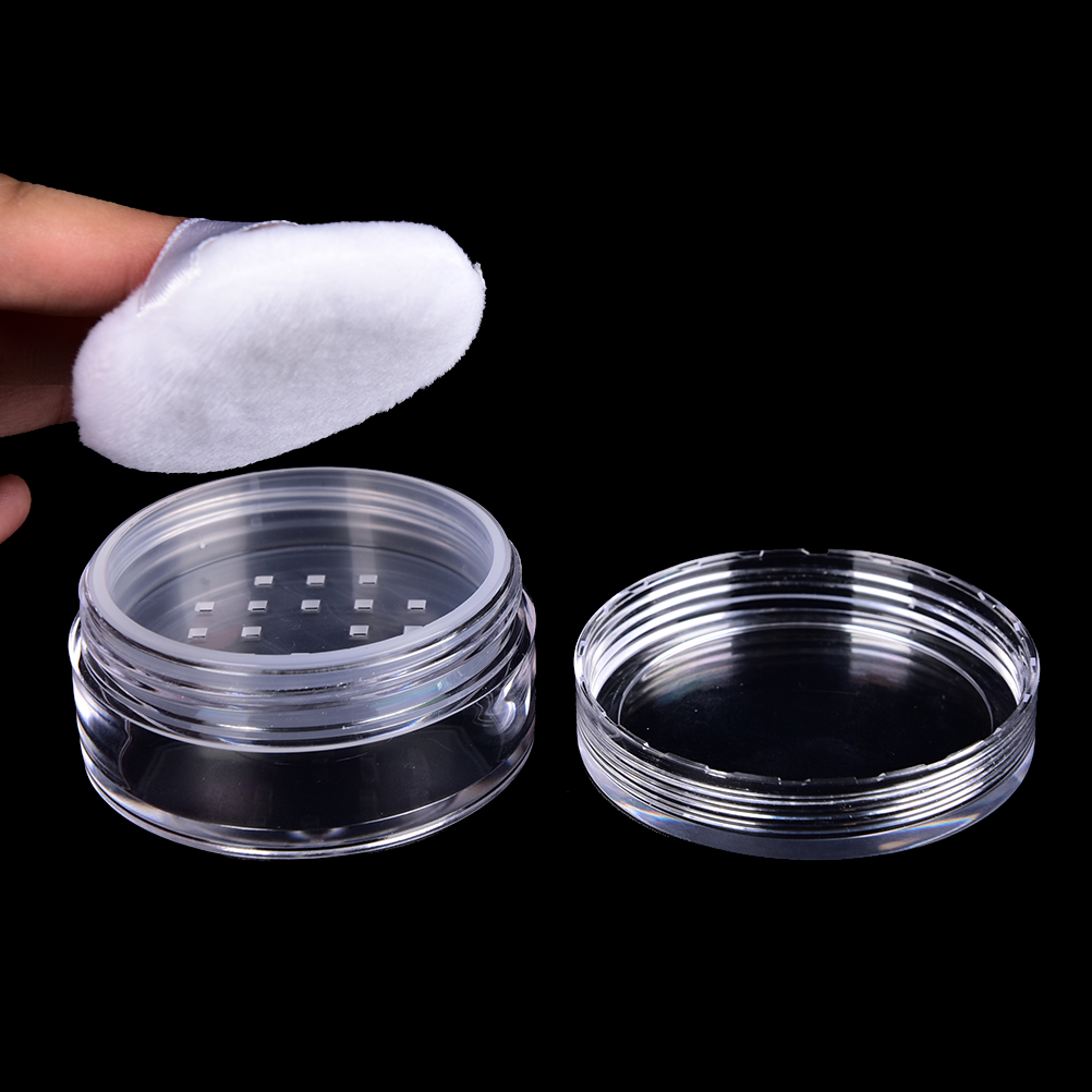 3pcs/set Powder Box Cosmetic Container Travel 2ml Empty Refillable Cosmetic Jar Pot Loose Face Powder Sifter Case
