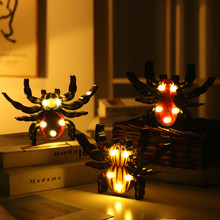 Fashion LED Light Holiday Party Romantic Wedding Decoration Kids Room Home Decor Novelty Pumpkin Bat Spi Der Gh Ost Night Lamp