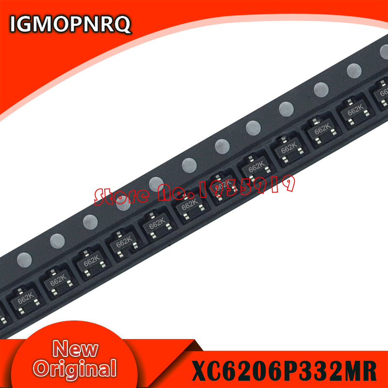 100pcs XC6206P332MR SOT-23 SOT XC6206P332 SOT23 XC6206 SMD(<font><b>662K</b></font>) 3.3V/0.5A new and original image