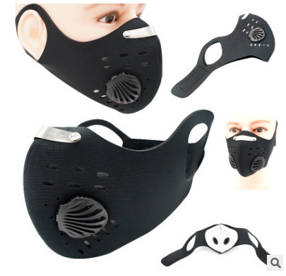 Activated Carbon PM2.5 Dust Mask Cycling Face Mask Men Women Sport Bicycle MTB Road Bike With Filter Anti-Pollution Masks 4