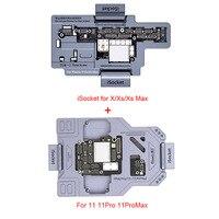 Qianli iSocket para X XSMAX 11 11Pro Max 12 Promax placa lógica función de diagnóstico comprobador rápido placa base de calidad de ensayo