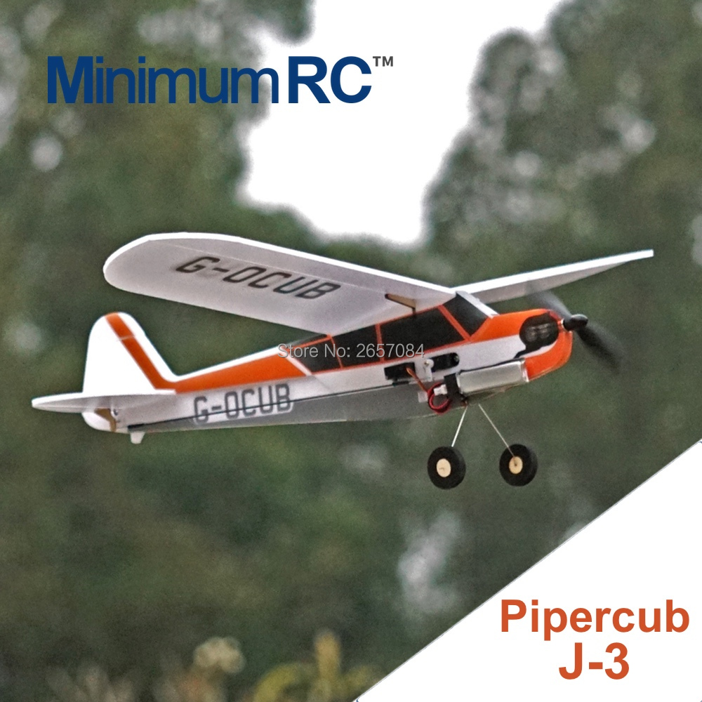 MinimumRC J3 360mm Wingspan 3 Channel Trainer Fixed-wing RC Airplane Outdoor Toys For Children Kids Gifts image