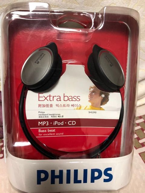 Oryginalne słuchawki philips SHS390 tylne wiszące sportowe/MP3 słuchawki