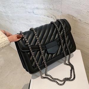 Image 3 - جودة خمر لينة بولي Leather جلد المرأة حقائب الكتف Crossbody 2020 حقيبة يد الموضة مخلب السيدات حقيبة ساعي محفظة الإناث