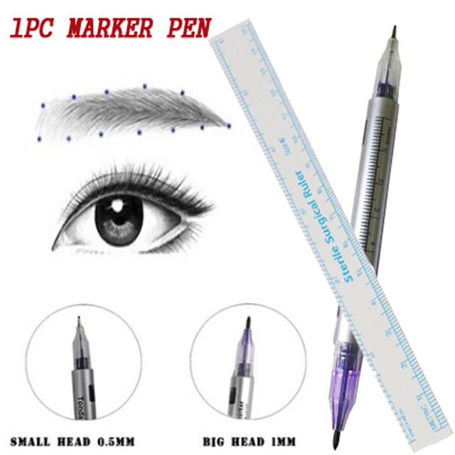 1pcs White Surgical Eyebrow Tattoo Skin Marker Pen Tools Microblading Accessories Tattoo Marker Pen Permanent Makeup 3