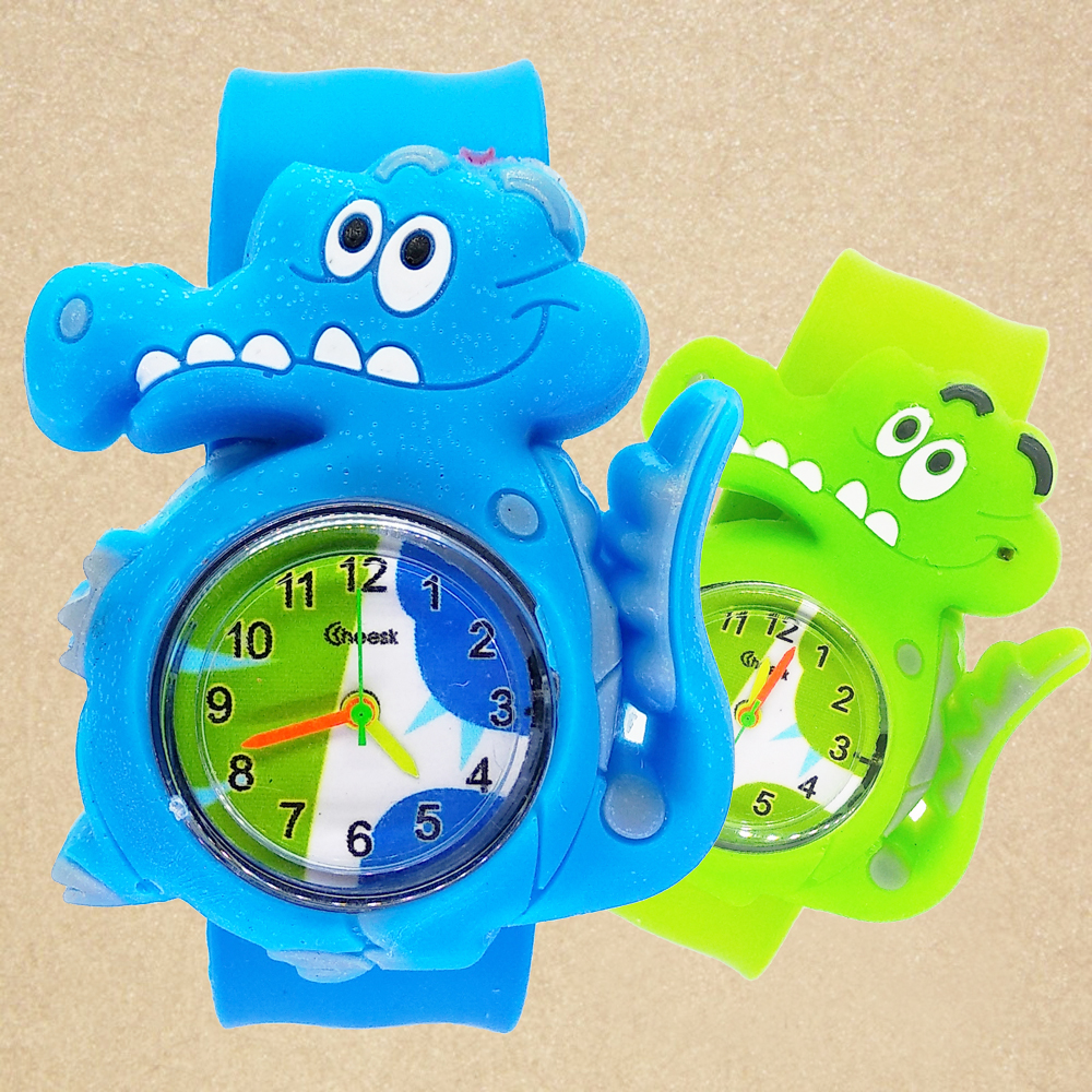 New Cartoon Tiger Crocodile Watch Kids Watches Children Girls Boys Students Clock Quartz Wristwatches Relojes Montres Kol Saati