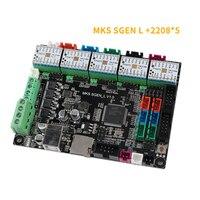 Mks gen l kit placa-mãe com 5x tmc2208 v1.2 + dissipador de calor conjunto para impressora 3d nc99