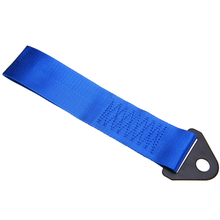 Blue Car Styling Towing Rope High Strength Nylon trailer Tow Ropes Racing Universal Eye Strap Bumper Trailer