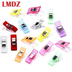 Lmdz 20/50 Pcs Naaien Clips Multicolor Plastic Clips Stof Klemmen Patchwork Craft Clips Kleding Clips Houder Quilten Clip(China)