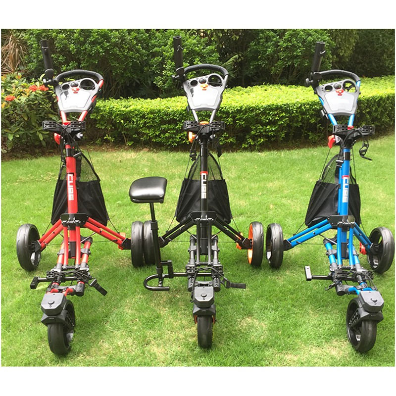 Outdoor Golf Hand Cart 360 Degrees Rotate Trolley Aluminium Alloy Frame Golfball Bag Jak-tung Truck Handheld Sports Seat Buggy