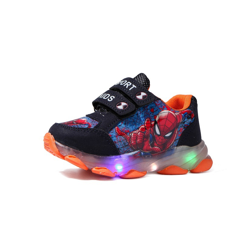 New Brand Hello Kitty Children Casual Shoes Beautiful Cute Kids Sneakers Classic Fashion LED Lighting Baby Girls Shoes