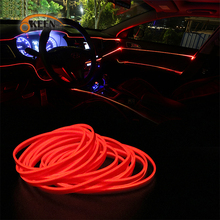 5M Auto LED Strip Car Interior Lighting Garland EL Wire Neon Light Rope Tube Line flexible  With 12V Cigarette Drive