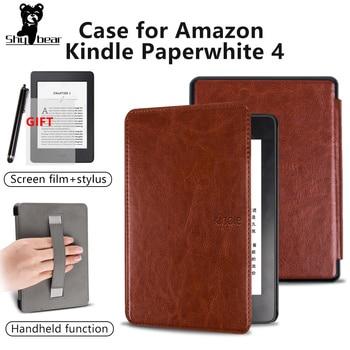 Case for Amazon Kindle Paperwhite 4  PU Leather Cover Case for Kindle Paperwhite 4  10th Generation 2018 e-book funda capa +gift adsorption protective pu leather case for amazon kindle paperwhite purple