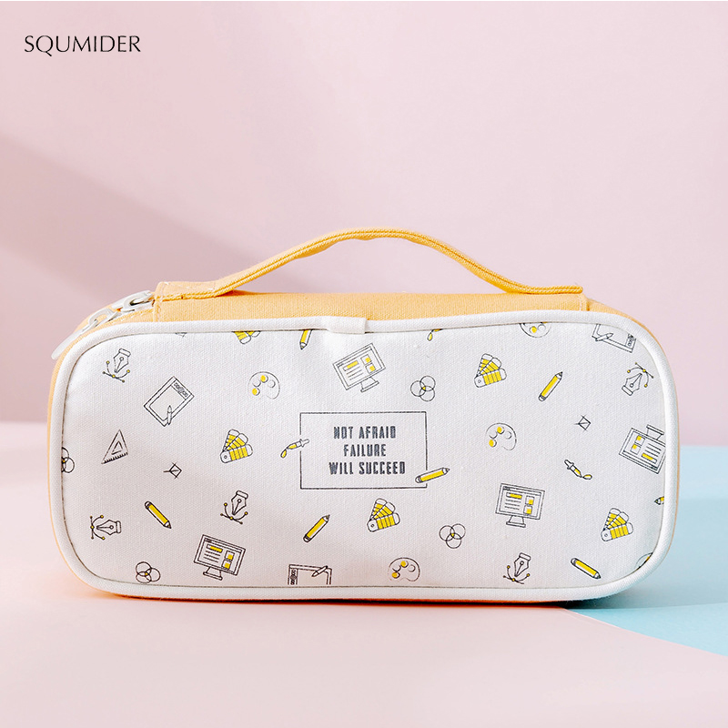 New Creative Pencil Case Portable Large-capacity Pencil Bag Fashion Net Red Simple Storage   Primary School Stationery Bag