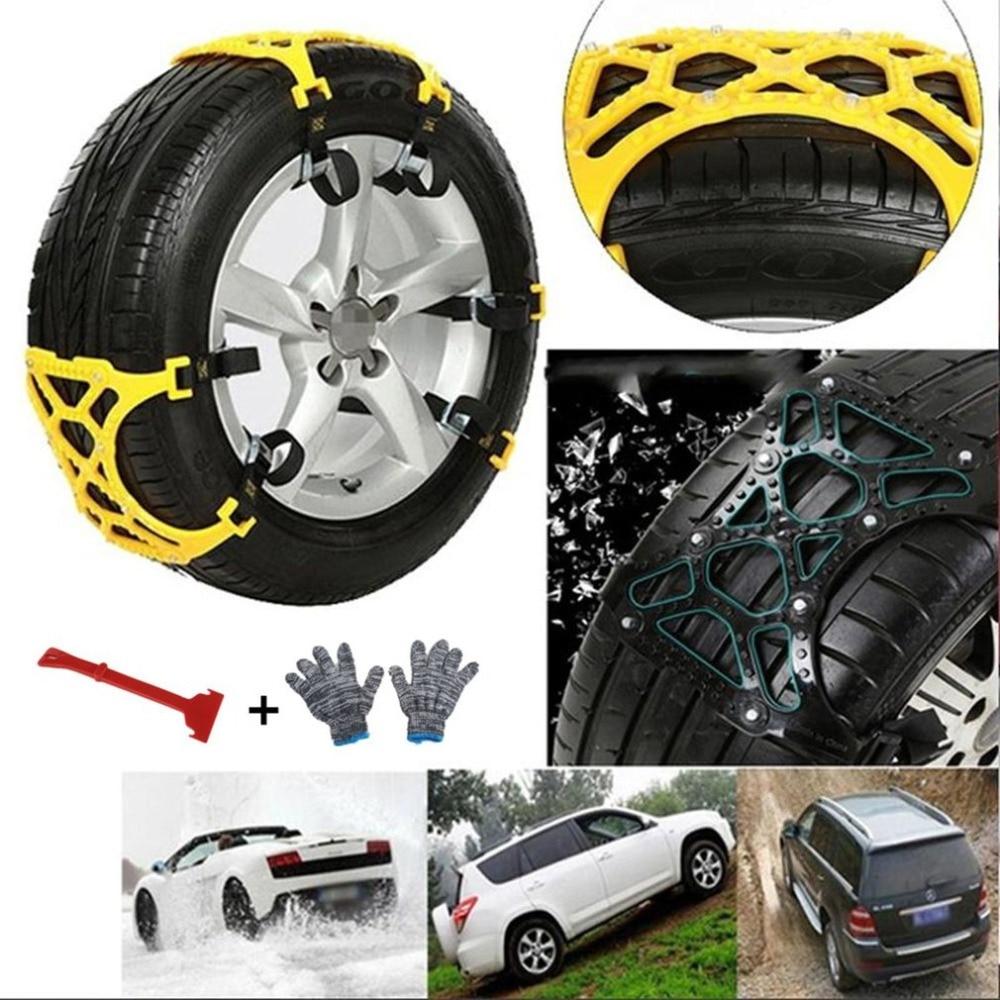 Chaîne anti-dérapante universelle roue de voiture pneu neige boue chaîne TPU alliage épaissi anti-dérapant sangle avec clé
