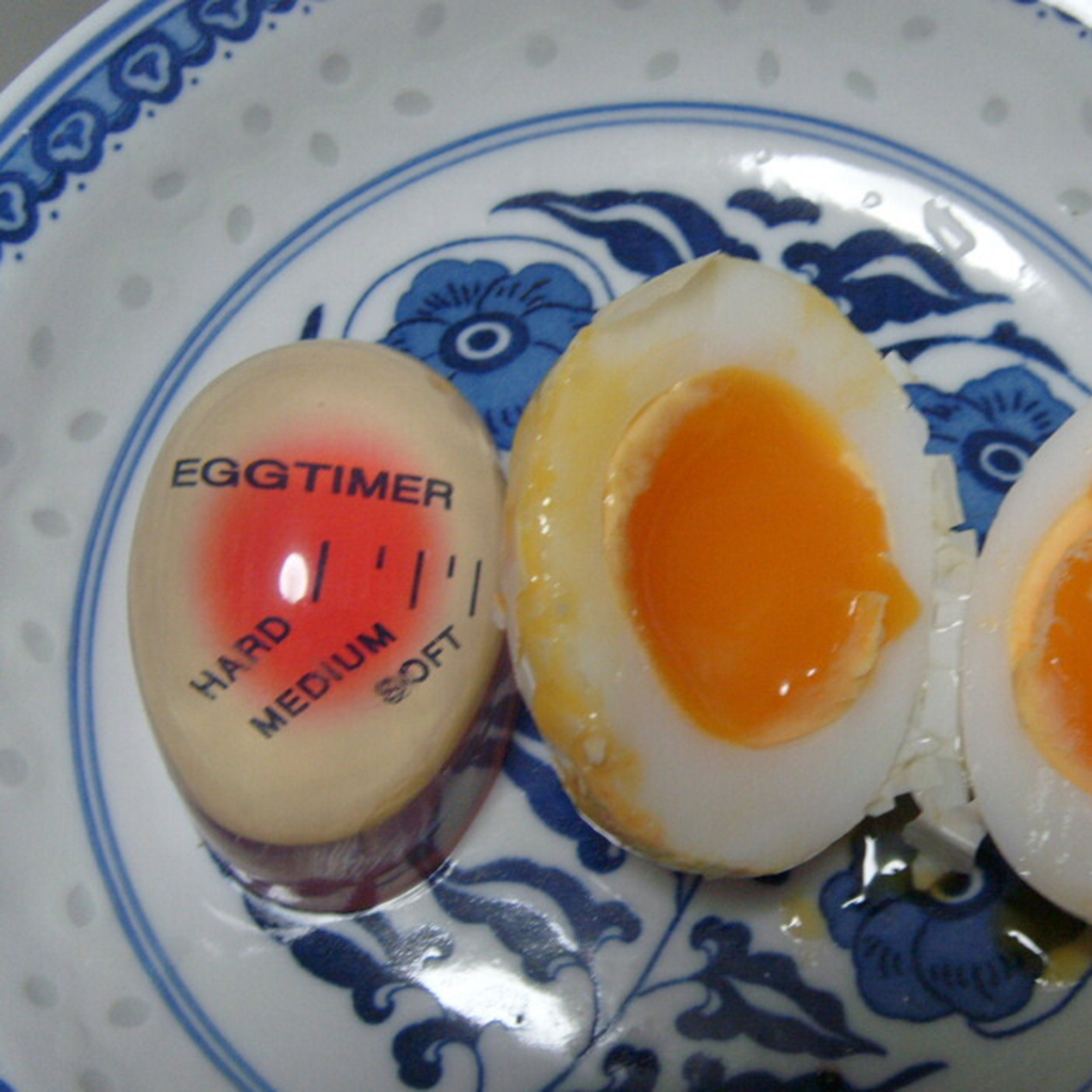 Смоляный материал, меняющий цвет Таймер для яиц, идеальные вареные яйца от температуры, кухонный помощник
