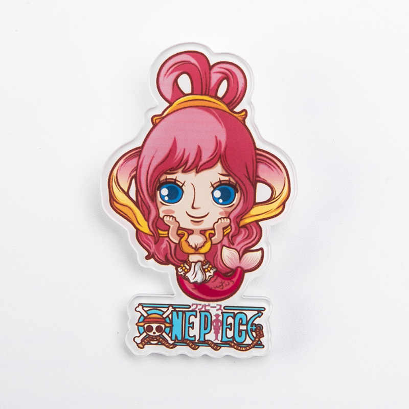 Anime Lencana Ikan Terran Jinbe Bros One Piece Pin Kerah Pin Perhiasan Akrilik Bros untuk Wanita Pria Ikon Tas Ransel denim