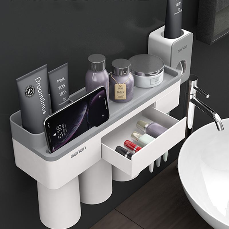 Bathroom Organizer Made With ABS Material And Shelf Magnetic Used For Shampoo And Shower Gel 4