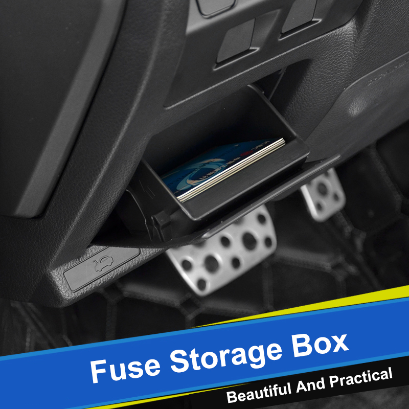 QHCP Car Fuse Storage Box Tray Holder Coin Card ABS For Subaru Forester 13-18 19 Outback 10-14 15-18 XV 12-17 18-19 Legacy 15-17(China)