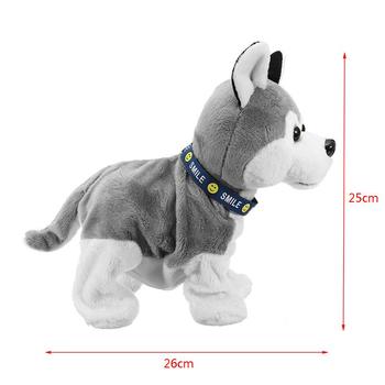 Elektroniczny Robot pies kontrola dźwięku dzieci pluszowe zabawki kontrola dźwięku interaktywny kora stojak spacer zabawki elektroniczne pies na prezenty dla dzieci tanie i dobre opinie CN (pochodzenie) 3 lat Electronic Robot Dog Plush Toy 4 x AA Batteries Unisex Zasilanie bateryjne Edukacyjne