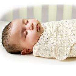 Пеленка для новорожденных, 100% хлопок, мягкие младенческие предметы для новорожденных, одеяло и пеленка, одеяло, спальный мешок