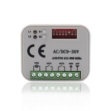 5 stücke Garage empfänger AC/DC 9 30V Mehrere frequenzen 300 900mhz tor steuerung empfänger 310 315 390 433 868mhz Fernbedienung schalter