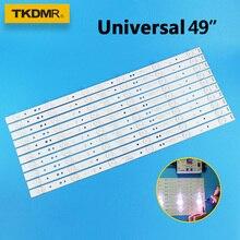 цена на TKDMR 10pcs /set 49 inch TV LED Strip 5800-W49001-1P00 for 49E6000 49E3000 480mm 6LED Universal tv led backlight strip used