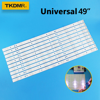 TKDMR 10pcs /set 49 inch TV LED Strip 5800-W49001-1P00 for 49E6000 49E3000 480mm 6LED Universal tv led backlight strip used 5800 a8g280 0000 37l02rf 32l02rm board used disassemble