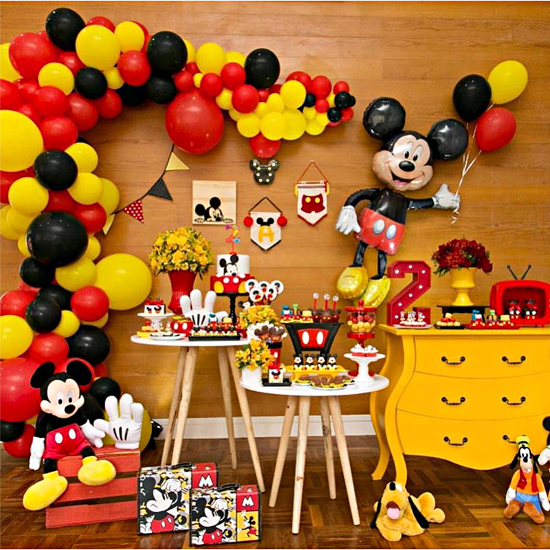 Mickey Mouse Party Decoration Baby Shower Kids Birthday Party Disposable Party Supplies Mickey Minnie Mouse Festival Decoration Party Diy Decorations Aliexpress