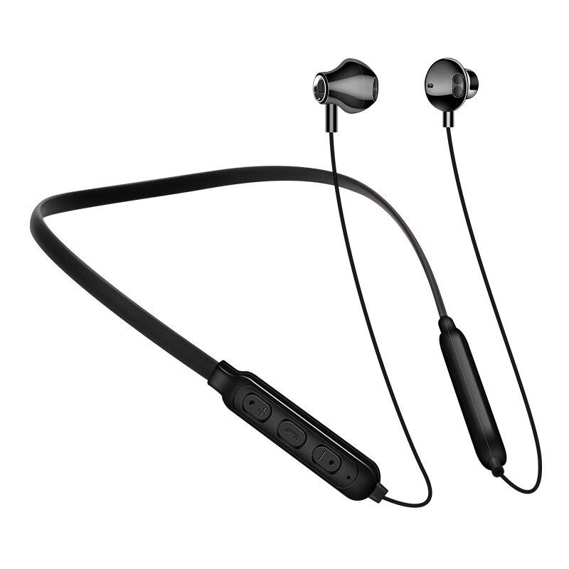 Магнитные беспроводные Bluetooth-наушники G02, Спортивная стереогарнитура с шейным ободом, наушники-вкладыши, наушники с микрофоном для всех тел...
