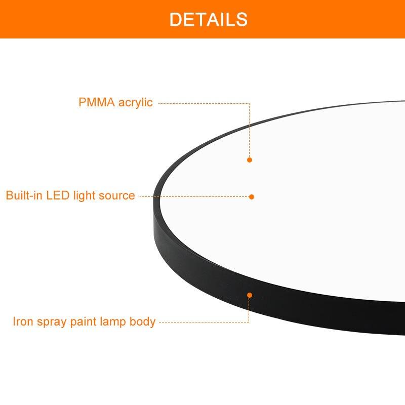 Ultra-dünne LED Decke Licht 220V 240V Moderne Lampe Wohnzimmer Beleuchtung Leuchte Schlafzimmer Küche