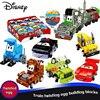 Disney Pixar Cars 6in1 DIY Building Blocks saetta Mcqueen junior Smokey Garage giocattoli educativi regalo di natale capodanno