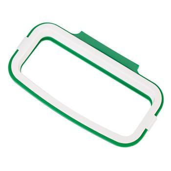 Soporte para bolsa de basura de cocina colgante armario de cocina armario de plástico puerta trasera almacenamiento
