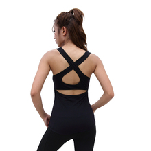 Sexy cROSS Back Yoga Shirt Running Crop Tops Solid Elastic Pullover Fitness T-shirt Tank Tops Gym Workout Shirts цена 2017