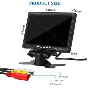 Image 4 - YuanTing 7 بوصة HD 800 × 480 TFT LCD مراقب الألوان شاشة سيارة للرؤية الخلفية النسخ الاحتياطي عكس كاميرا تلفزيونات الدوائر المغلقة مع موقف و 2 AV المدخلات
