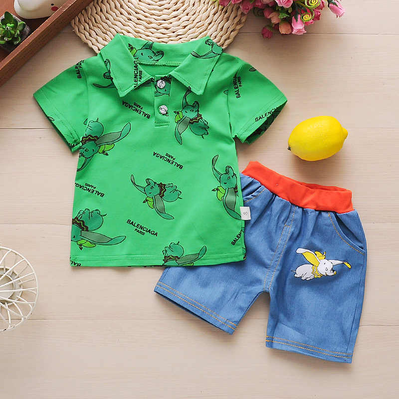 2PCS Toddler Kids Baby boys summer Clothes T-shirt/&short Pants outfits gentleman