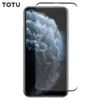Filme de vidro moderado da tela de totu para o iphone x/xs/xr/xs max/11/11 pro/11 pro filme protetor de tela de telefone max hd vidro edgeless