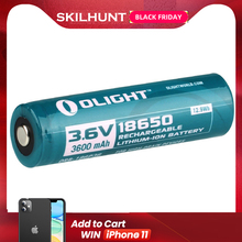 Olight ORB 186P36 3600mAh 18650 beschermd Li Ion oplaadbare batterij