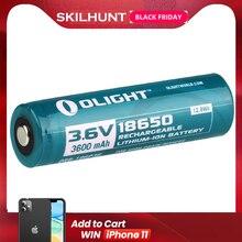 Olight ORB 186P36 3600mAh 18650 protetta batteria ricaricabile Li Ion