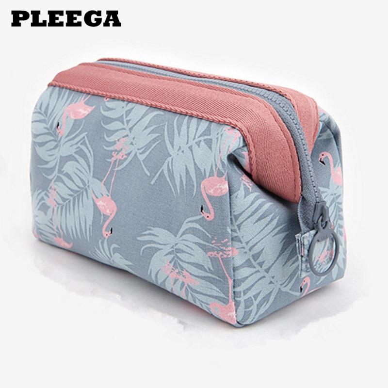 Multifunction Travel Cosmetic Bag Women Waterproof Flamingo Makeup Bags Travel Organizer Toiletry Kits Portable Makeup Bags