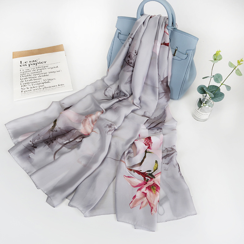 10 Colors High Quality <font><b>Silk</b></font> <font><b>Scarf</b></font> Women Luxury Brand Foulard Wraps Shawls Summer Style Long Beach <font><b>Silk</b></font> <font><b>Scarf</b></font> <font><b>180*90cm</b></font> image