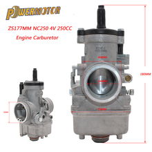 цена на Motorcycle PZ34J 34mm Carburetor For 177mm Zongshen 250cc Water Cooled 4 Valve Engine xmotos kayo NC250 Pit Dirt Bike ATV Quad