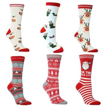 2020 New Christmas Socks Gifts Mens/ Womens Autumn Winter Eve Year Santa Claus
